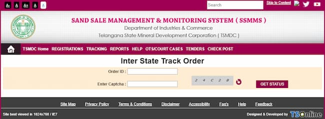 how to book sand online in telangana