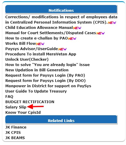 how to download salary slip